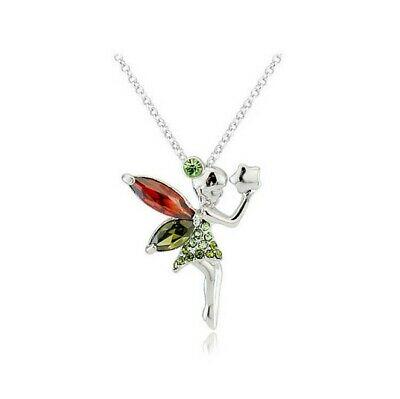 Silver Tone Crystal Mythical Fairy Pendant Necklace for Girls, Teens and Women - Mythical Girls