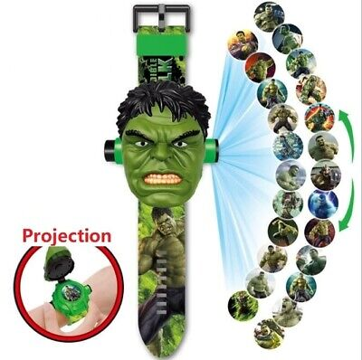 Children Watch For 3D Green Cartoon Man Strap Silicone Bracelet Wristwatch kids