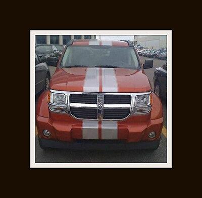 "Dodge NITRO Jeep Liberty 8"" Twin Rally Stripe Set Stripes Decal Decals Graphics"