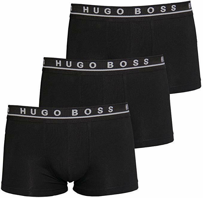 ✅ HUGO BOSS PREMIUM  HERREN BOXERSHORTS UNTERHOSEN BLACK SCHWARZ 3er PACK ✅