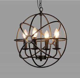 Globe pendant light.
