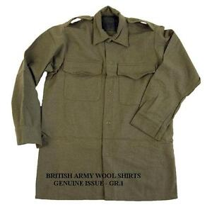 BRITISH-ARMY-WOOL-SHIRTS-WW1-AND-WWII-PATTERN-USED-GR-1-SIZES-FANCY-DRESS