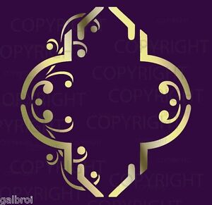 Wall-Decorative-LARGE-TRELLIS-MOORISH-PATTERN-STENCIL-Damask-Mural-2002