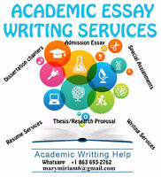 ESSAY/RESEARCH WRITING SERVICES/ PROOFREADING/ RESUMES WRITING