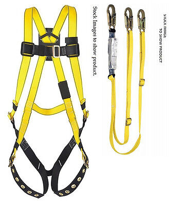 Special  Msa Xl Safety Harness 10072488 And Twin Leg Lanyard Combo
