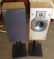 KEF C30 SPEAKERS WITH STANDS.