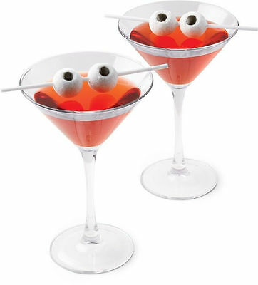 Halloween Eyeball Candy Drink Skewers 6 ct from Wilton 0060 NEW