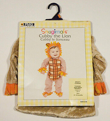 PMG INFANT 12-18M NWT CUBBY THE LION CUB HALLOWEEN COSTUME 12M 18M SNUGIMALS NEW - Cubby Costume