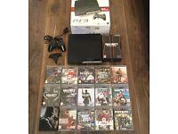 Sony PS3 Slim 160GB console plus 15 games