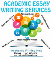 ESSAY TUTORING/ RESUME HELP/ PROOFREADING/  RESEARCH WRITING