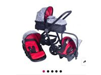 Brand new red kite push me fusion geo travel system