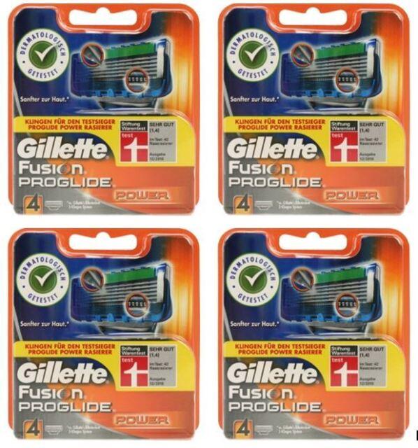16er GILLETTE FUSION PROGLIDE POWER RASIERKLINGEN NEU UND ORIGINAL