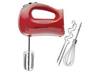 Andrew James Hand Blender 300 W 5 Speeds, Includes 3 Rods, Red