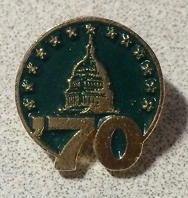 Rare Us Capital  70 Lapel Hat Pin   United States Of America   Washington Dc