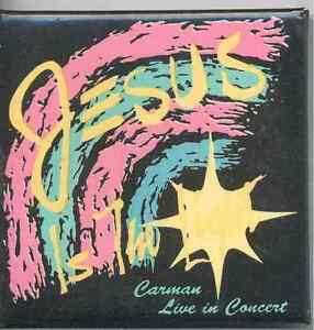 1991-Carman-Jesus-is-the-Light-Concert-Tour-Pinback-Button-Excellent-Shape