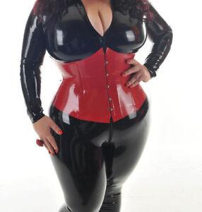 aimee red latex rubber corset cors de l tex latexkorsett ebay. Black Bedroom Furniture Sets. Home Design Ideas