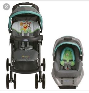 Matching high chair and stroller