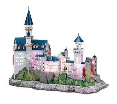 Puzzle Cubic Fun 128 Teile - Puzzle 3D mit LED - Schloss Neuschwa... (45648)