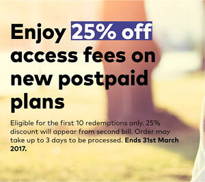 25% off the advertised mthly access fee on Optus mobiles!! Lane Cove North Lane Cove Area Preview