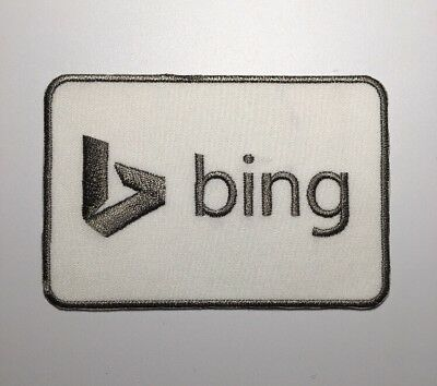 Bing Patch White Gray Microsoft Internet Search Engine 4.5 X 3 Patch V2