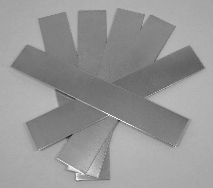 "Nickel Silver Sheet / Bracelet Blanks 20ga 6"" x 1"" .81mm  Pkg Of 6"