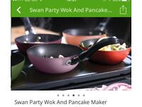 NEW Come Dine With Me party wok & pancake maker set