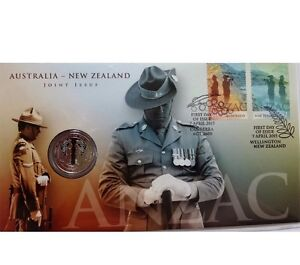 ANZAC JOINT ISSUE PNC coin stamp Sunnybank Hills Brisbane South West Preview