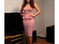Muave Pink Peplum Dress