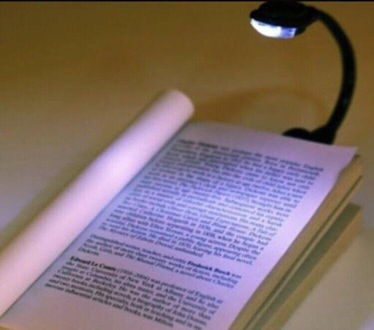 Mini Flexible Clip-On Bright Booklight Laptop White LED Book Reading Light Lamp