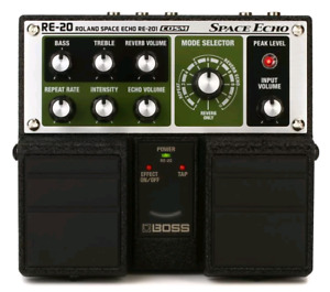 Boss RE-20 Space Echo pedal + power supply