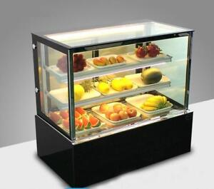 220V Countertop Refrigerated Cake Pie Showcase Bakery Display Cabinet Dessert Display Case 210080