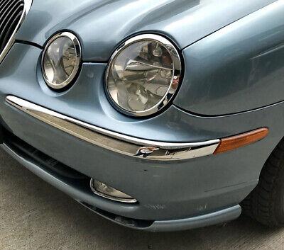 Car Parts - Chrome Bumper Insert Front Left for Jaguar S type 98-03