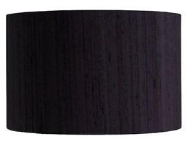 2x Habitat Black Silk Lightshade