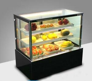 220V Countertop Refrigerated Cake Pie Showcase Bakery Display Cabinet 210080