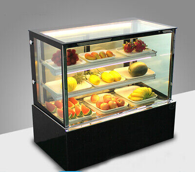 220v Bakery Cake Showcase Desktop Display Cabinet Warm Light Back Door Demisting