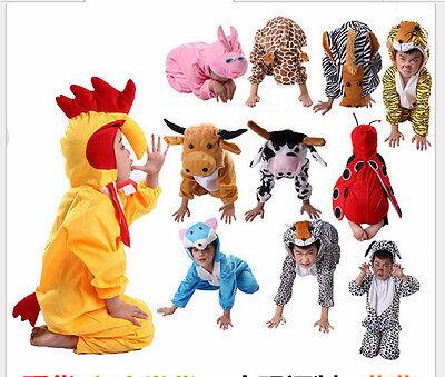 Halloween Child Animal Fancy Kigurumi Cosplay Dress Costume Cow Tigger and so on (Animals On Halloween)