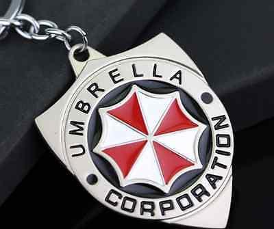 Resident Evil Umbrella Corporation Corp Keyring Keychain Key Gamer Gift Brand