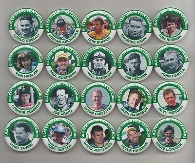 ULSTER GRAND PRIX LEGENDS  MAGNETS  X20 ( SET 2 )  38mm  IN SIZE