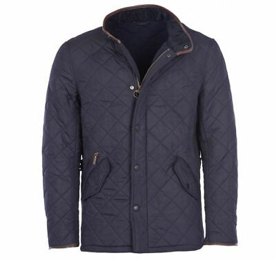 Barbour MQU0281 International Mens Powell Quilted Jacket In Navy Sizes S - 3XL