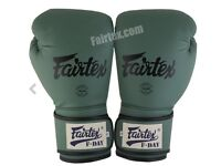 Green FDay Limited Edition Universal Muay Thai/Boxing Gloves & Competition Muay Thai Shin Guards