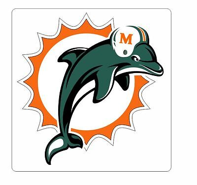 Miami Dolphins Sticker Decal S28 YOU CHOOSE SIZE