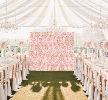 Flower wall hire - Soft Pink and blush