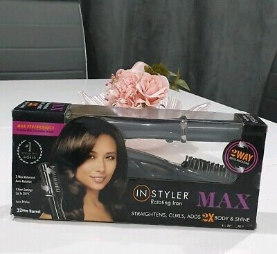 InStyler MAX Purple 32mm 2-Way Rotating Iron, Straightens, Curls adds Body&Shine