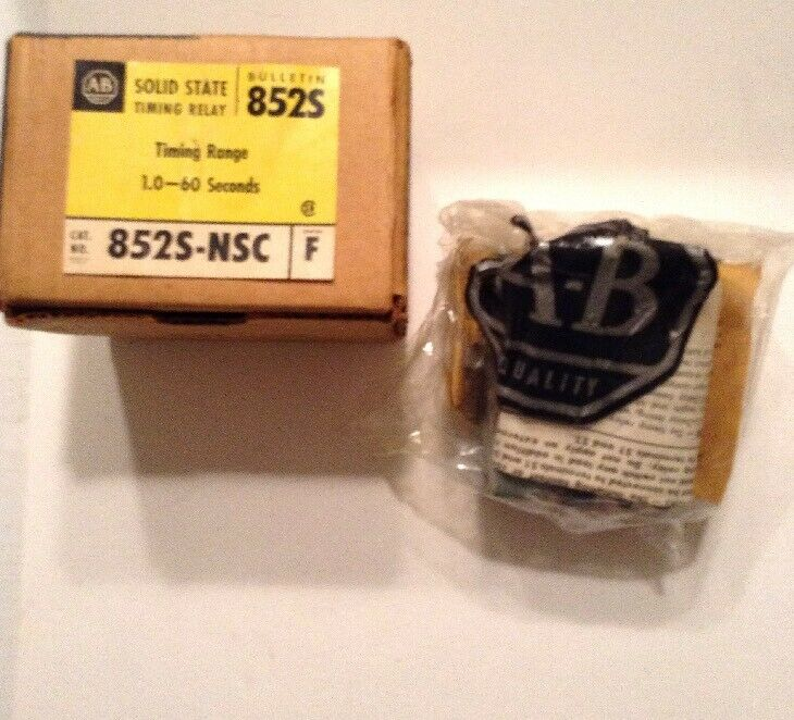 Allen-Bradley Solid State Timing Relay 852S-NSC Series F