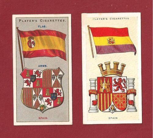 Bandera de Espana Flag of SPAIN la Rojiguarda and Coat of Arms 1905-1938 cards