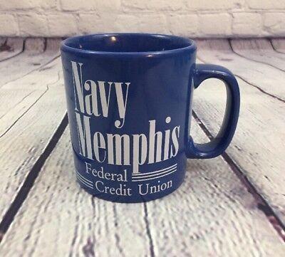 Kiln Craft Navy Memphis Federal Credit Union Blue Coffee Cup Mug   England