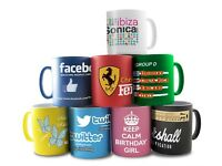 Sublimation Mug Printing Photo Quality in One Hour only £10.00 / Bow E3