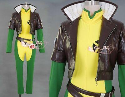 X-men X men Rogue /brown leather jacket Costume cosplay anime full - Rogue Xmen Jacket