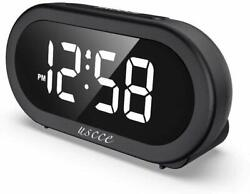 USCCE Small LED Digital Alarm Clock with Snooze, Easy to Set, Full Range Brightn