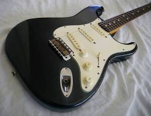 Fender Stratocaster Standard ST43 Black  MIJ ...will post Redlynch Cairns City Preview